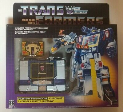 Hasbro Transformers Vintage G1 Exclusive Decepticon Soundwave with Buzzsaw NIP