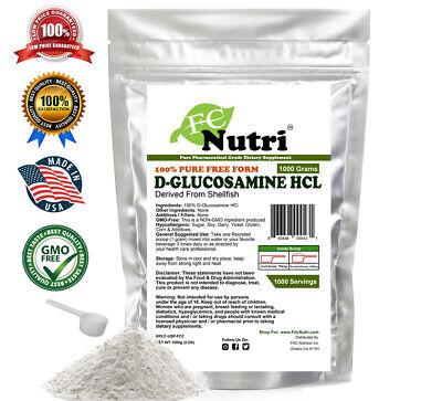 Glucosamine HCl 100% PURE POWDER 2.2lb (1000g) PHARMACEUTICAL GRADE  (Pharmaceutical Grade Glucosamine)