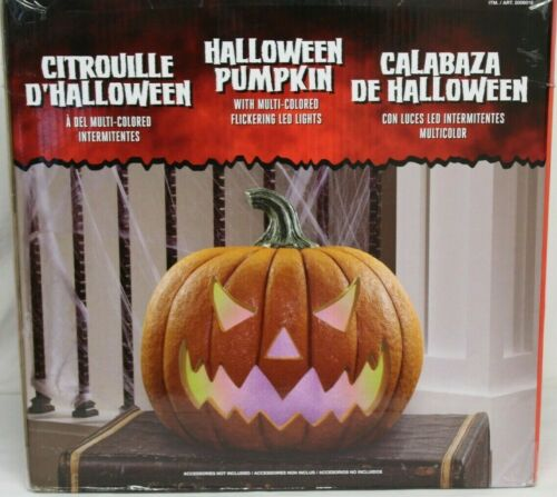 LED Halloween Pumpkin with Lights and Sounds