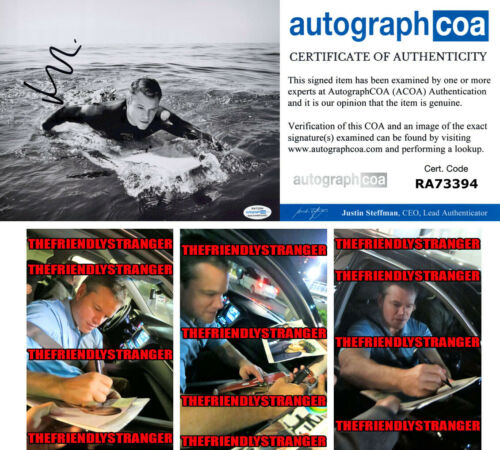 MATT DAMON signed Autographed 8X10 PHOTO c PROOF - SEXY Ford v Ferrari ACOA COA