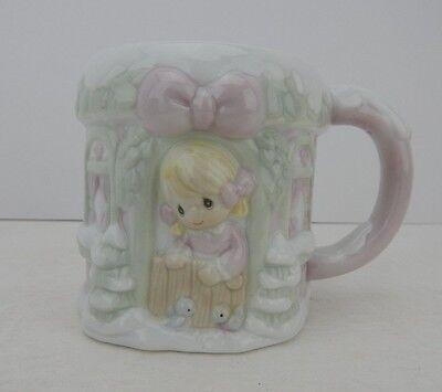 Enesco Precious Moments Sugar Town Collection Winter Wonderland Mug Pink New