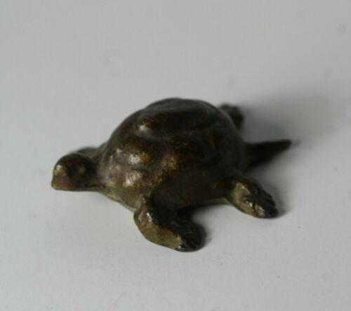 Vintage Miniature Bronzed Metal Turtle Sculpture # 4
