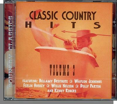 Country Classics Hits, Volume 3 - New 25 Song Various Artists CD! Big Names!