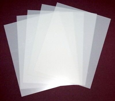 """5 Sheets 10 Mil Blank Mylar Stencil Material 8.5"""" x 11"""" Crafts Airbrush Laser"""