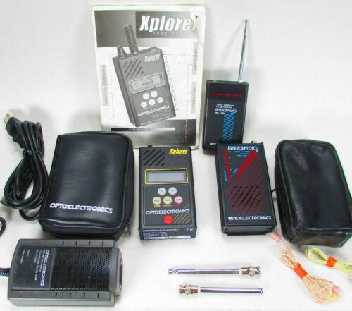 OPTOELECTRONICS XPLORER & INTERCEPTORS Hand-Held Test Receiver Charger Cases