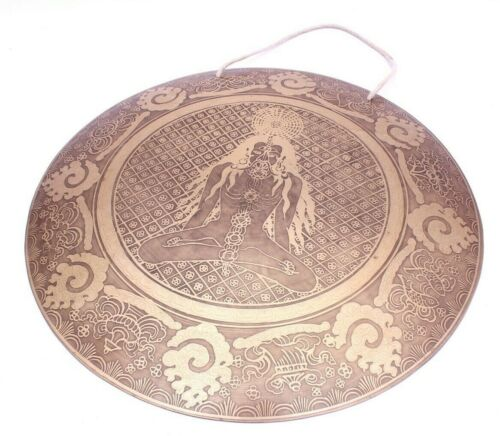 Tibetan Yogi carved Master Healing Handmade Gong-20 inches Master quality gong