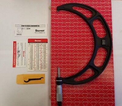 Starrett 436xrl-9 Micrometer 8-9 .001 Graduation W Original Box 1-e0005