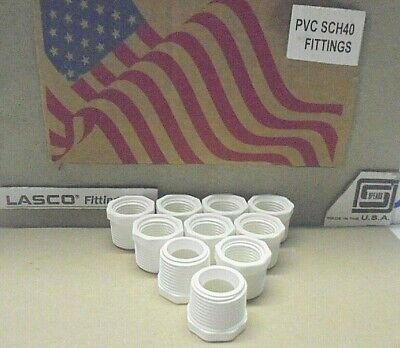 34 X 12 Mpt X Fipt Bushing Pvc Schedule 40 Made In Usa Plumbing Pipe Fitting