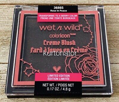 Wet N Wild Color Icon #36865 ROSE IN PEACE Creme Blush NEW Rebel Rose (Rebel Rose)