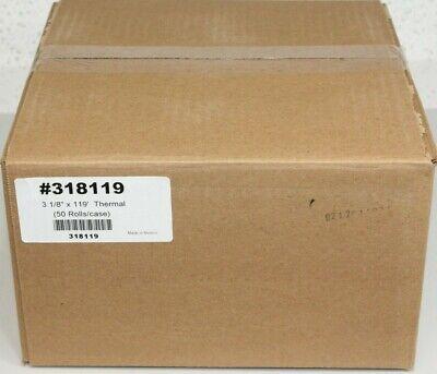 3 18 X 119 Ft. White Thermal Receipt Paper Rolls 50 Case Receipt Printer