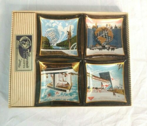Vtg Houze Art Souvenir Tray Gifts New York Worlds Fair Monorail 1965 Collectible
