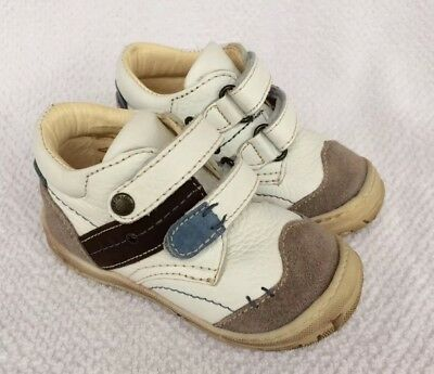 Primigi Toddler Boys Shoes - Primigi White & Brown Shoes Boots Toddler Baby Boys Size 5.5 EU 21