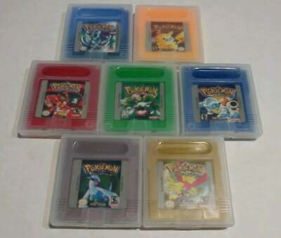 Pokemon Crystal Silver Gold Yellow Blue Red Green Gameboy Color Games from USA.
