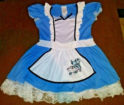 Chesire Cat Costume (Vintage Alice in Wonderland Costume Dress Chesire Cat Lolita CHILD XL or)