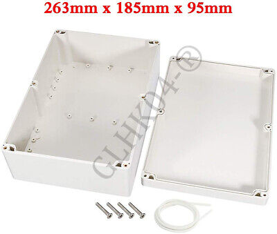 Waterproof Electronic Project Box Enclosure Plastic Cover Case 263x185x95mm Diy