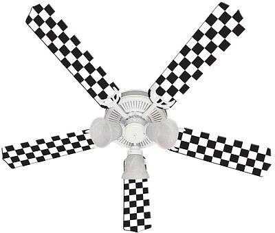 New NASCAR CHECKERED FLAG RACE RACING Ceiling Fan 52