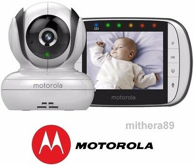 Motorola MBP36S VIDEO BABY MONITOR Digital 3.5 Inch COLOUR Screen + Sound VGC !