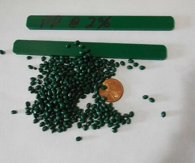 Green Polypropylene Pp Or Pe Concentrate Plastic Pellets Resin Colorant 5 Lbs.