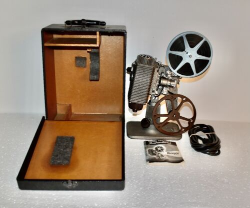 Revere 8mm Movie Film Projector w/case & owners manual Serviced & WORKS  #12