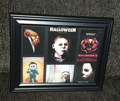 Halloween Michael Myers Black  Framed display..Brand New...8x10 wall