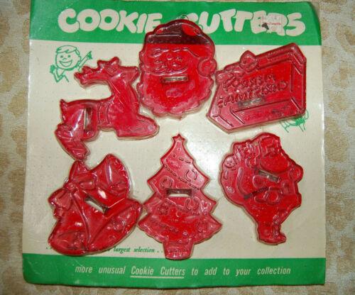 Vintage Package of HRM Christmas Cookie Cutters-Original Unopened Package