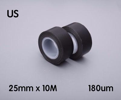 Professional Electrical Tape - 25mm Professional Electrical High Temperature PTFE Coated Fiberglass Tape Black