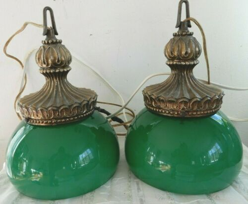 FRENCH FARMHOUSE HOLLYWOOD REGENCY VIANNE FRANCE DOUBLE SWAG LAMP MID CENTURY