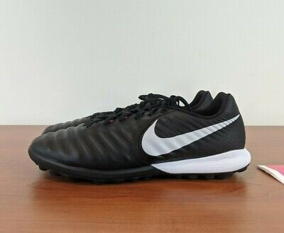 Nike Tiempo Lunar Legend 7 Pro TF Soccer Turf Shoes Black Red AH7249-006 Size 10
