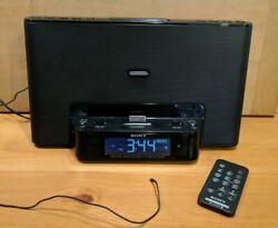 SONY LIGHTNING IPHONE/iPod Alarm Clock Radio Speaker Dock ICF-CS15iP w/ Remote!