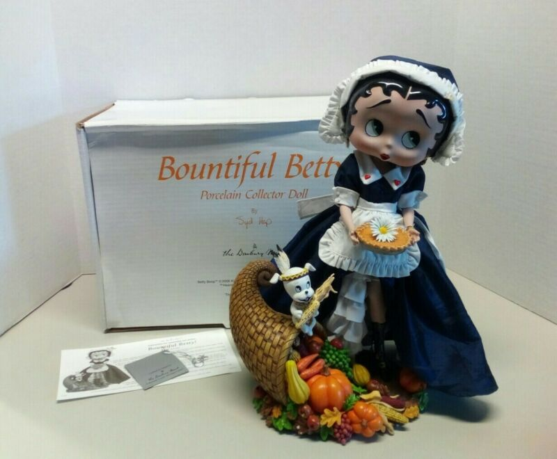 Bountiful Betty Boop By Danbury Mint 2006 - with Original Box and Paperwork -