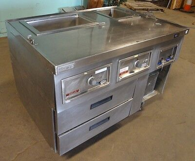 Commercial Ss Kitchen Line Expediter Prep Station Delfieldwells Hotcold
