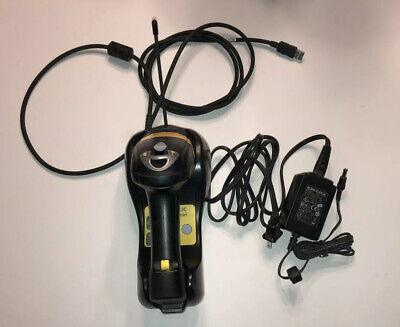 Datalogic Powerscan M8300 910mhz Barcode Scanner W Cradle Bc8030 Power Supply