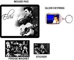 32-Elvis-Presley-Mouse-Pad-mousepad-Fridge-Magnet-GLOW-Keyring-Sticker