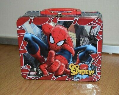 Marvel Spider-Man Go Spidey 3D Tin Lunch Box - EUC