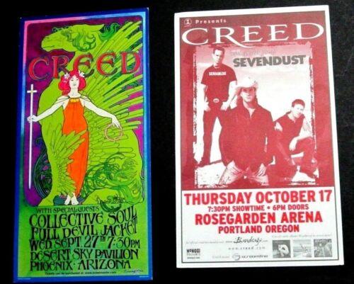 Creed Lot - Arizona and Portland Oregon Concert Handbills