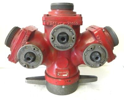 Akron Brass 2582 3 Way Suction Siamese Valve Wye Firefighting Equipment