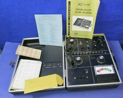 Working Bk Model 607 Solid State Vacuum Tube Tester With Manuals