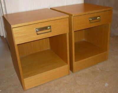 Vintage Pair of Bedside Tables by Starlight Singapore Likely Teak