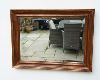 Vintage  fruit wood  overmantle  mirror 80 cm x 60 cm VGC