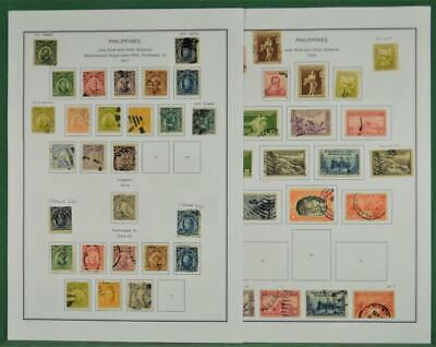 PHILIPPINES STAMPS ON 6 PAGES  (Z192)