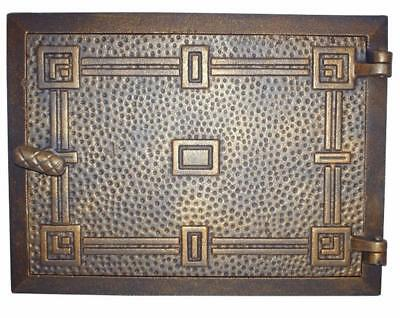 Cast Iron Fire Door Clay Bread Oven Pizza Stove Quality OLD Gold (K) 33 x 24cm