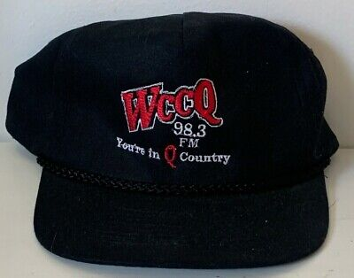 Vintage WCCQ 98.3 Country Logo Embroidered Advertising Baseball Cap Trucker Hat