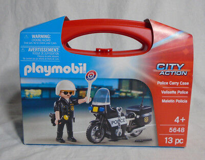 PLAYMOBIL POLICE CITY ACTION * NEW  #5648 * Carry Case - New in Sealed Package