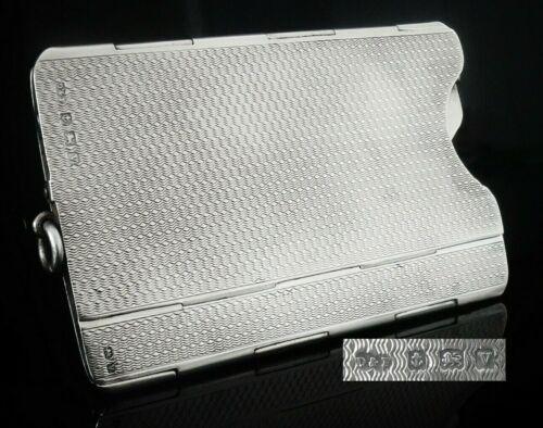 Folding Sterling Silver Card Case, Birmingham 1920, Deakin & Francis Ltd