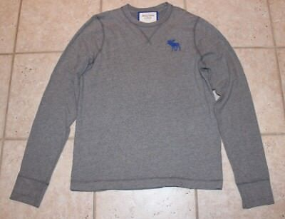 Abercrombie & Fitch Mens XXL Muscle Fit Long Sleeve Gray Shirt for sale  Shipping to India