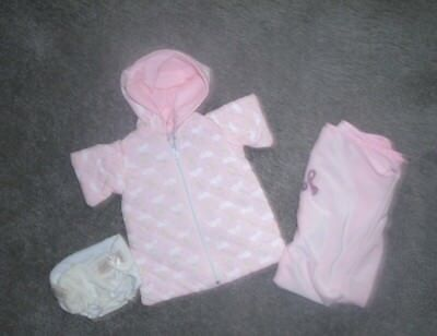 NICE QUILTED BABY DOLL PRAM-BLANKIE-DIAPER' FITS 13-14 INCH  BABY DOLL' VG for sale  Shipping to India