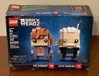 LEGO BrickHeadz Newt Scamander & Gellert Grindelwald 41631, Brand New