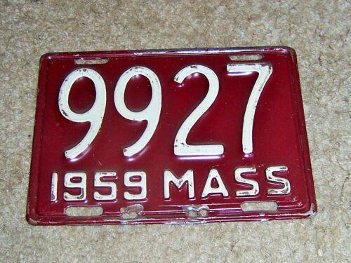 1959 MASSACHUSETTS MOTORCYCLE  LICENSE PLATE