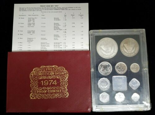1974 Republic of India 10 Coin Proof Set