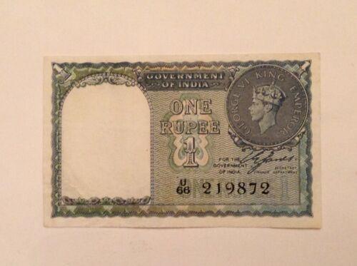 British India One 1 Rupee 1940 George VI P (Pick) 25